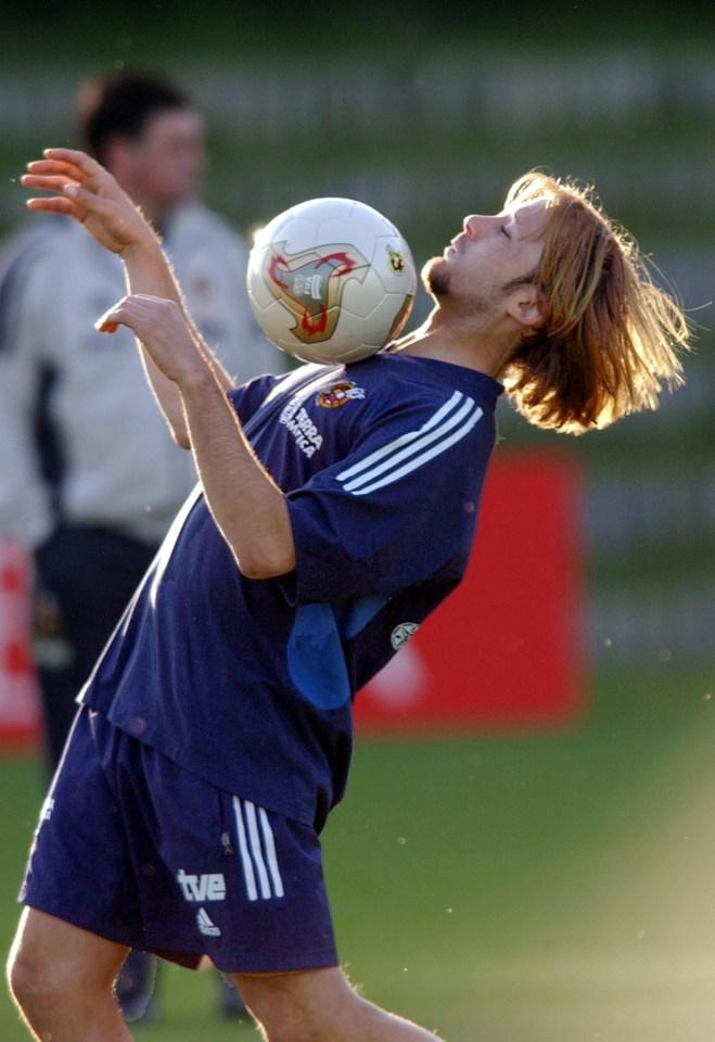 That ball, that facial hair…
