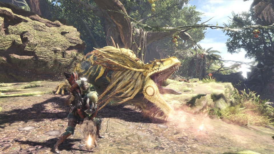 Monster Hunter Wold's vibrant graphics really are a joy to behold