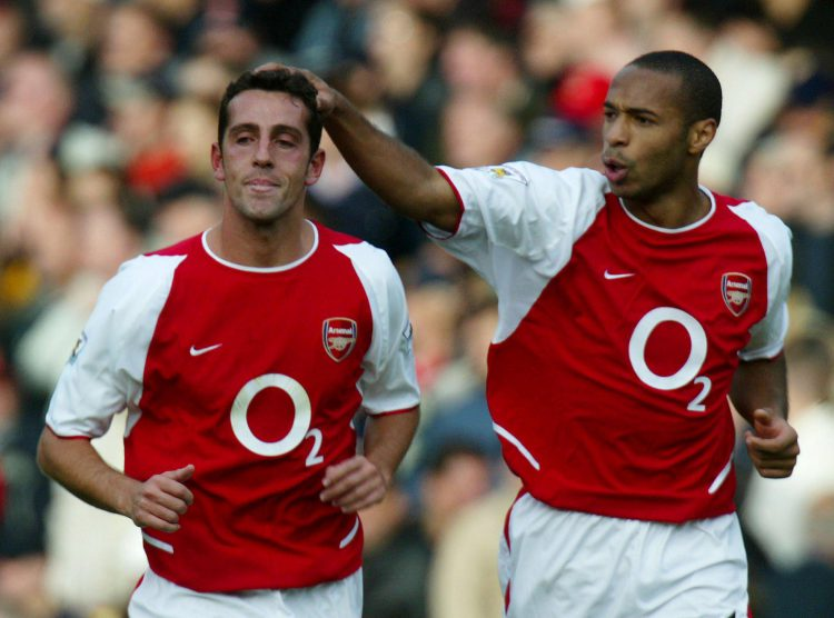 Arsenal's greatest ever player gets a pat on the head from Thierry Henry