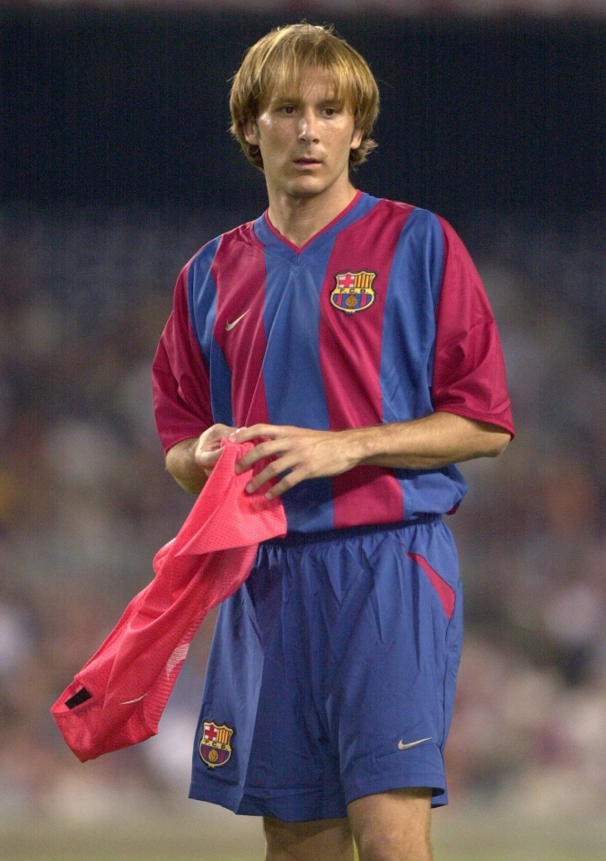 Other midfielders for Barca at the time included Cocu, Riquelme, Overmars, Enrique, Motta, Xavi and Iniesta…