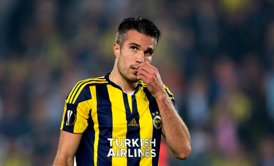 RVP has endured a fairly frustrating time in Turkey