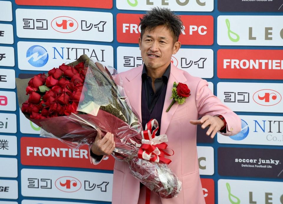 Miura celebrated his 50th birthday last February