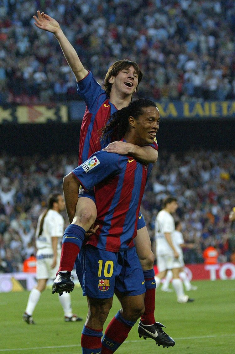 The original Barca no.10 with the new pretender