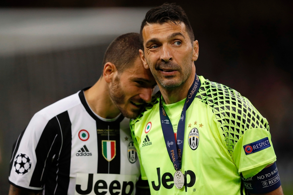 The pair won many honours together at Juventus