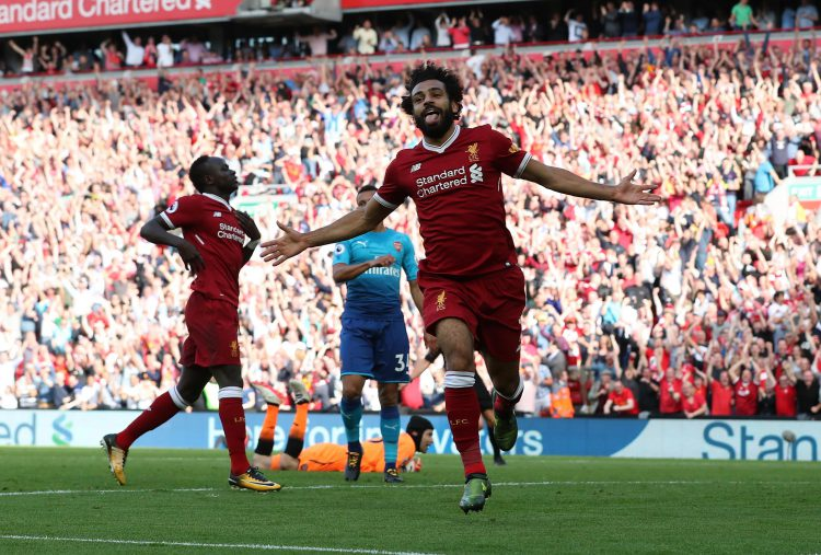It was not difficult to find a picture of Salah celebrating