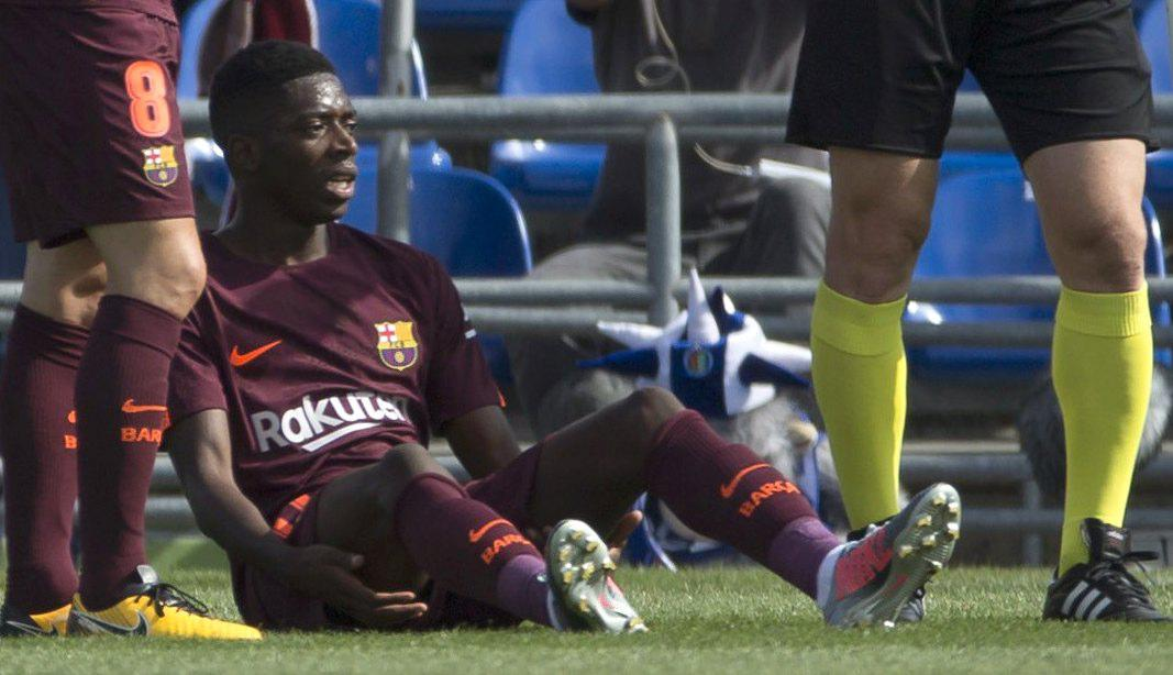Dembele suffered the injury against Getafe in September