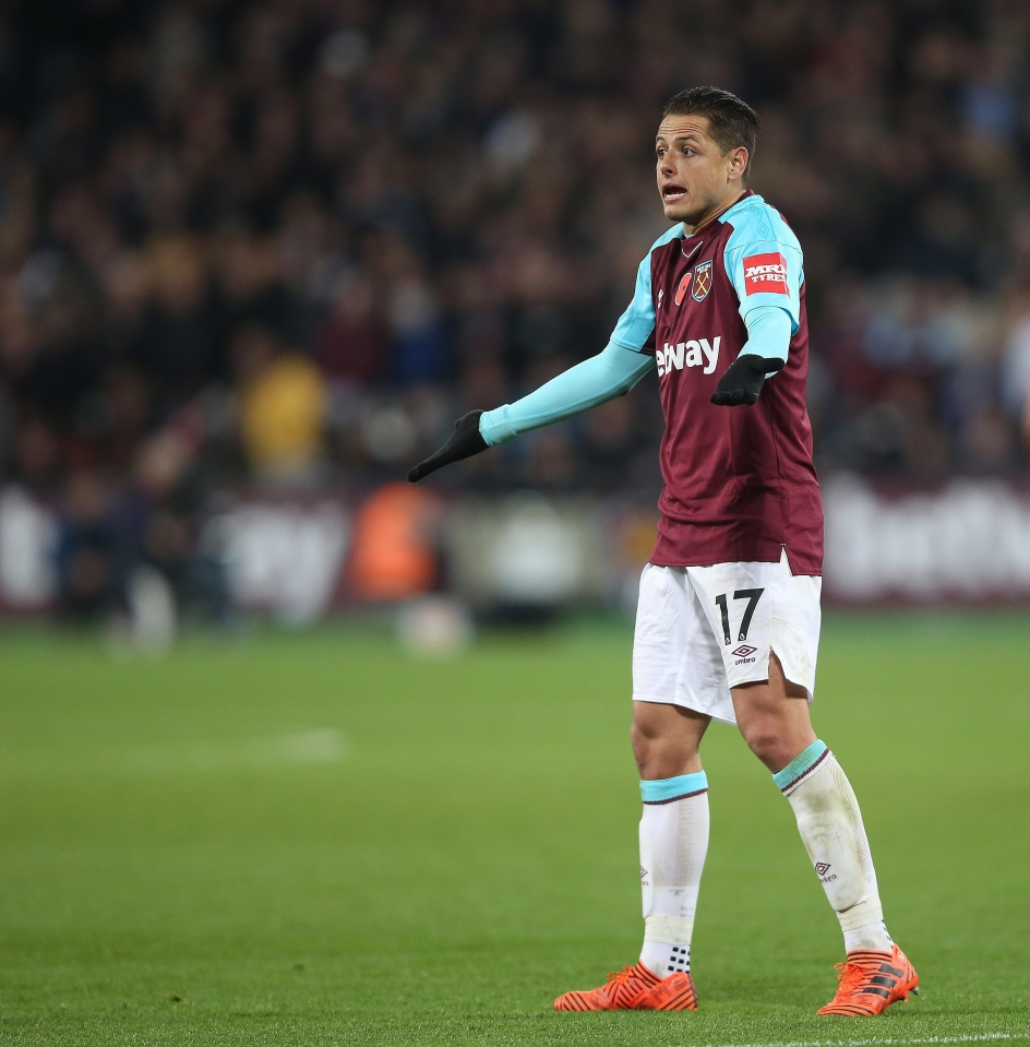 Hernandez has struggled for goals and game time at West Ham so far