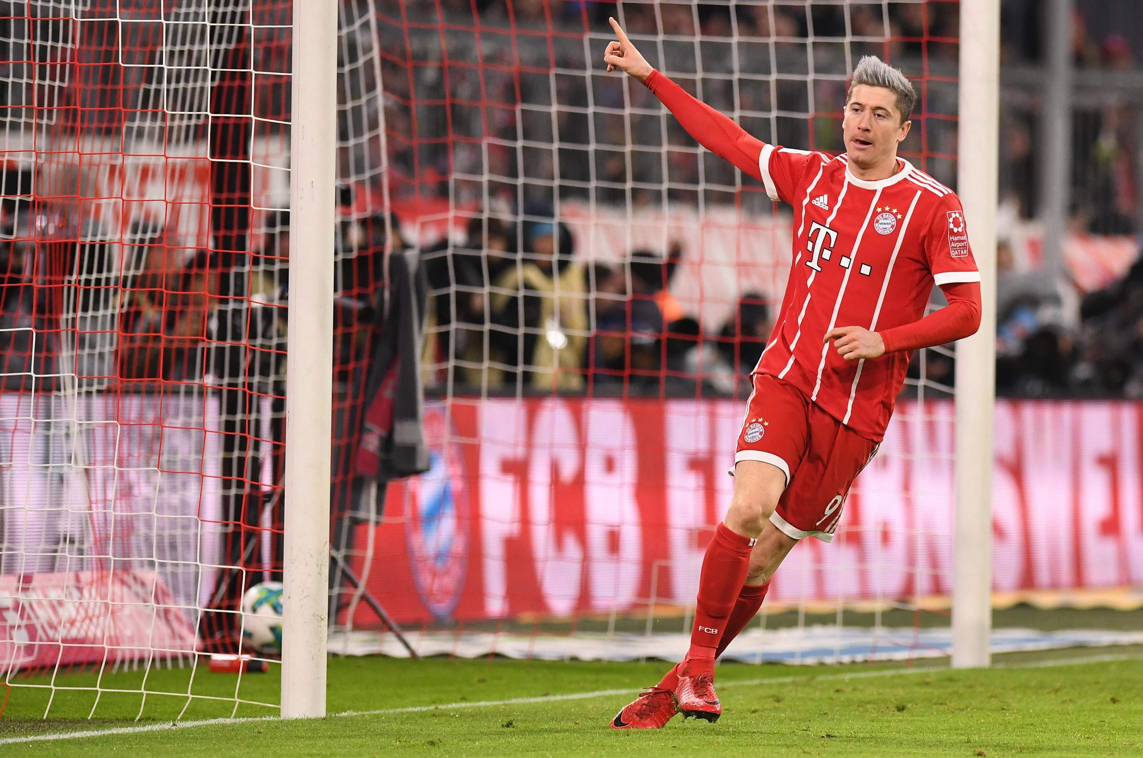 Lewy moved into the top ten all-time Bundesliga scorers with his goal against Koln in December