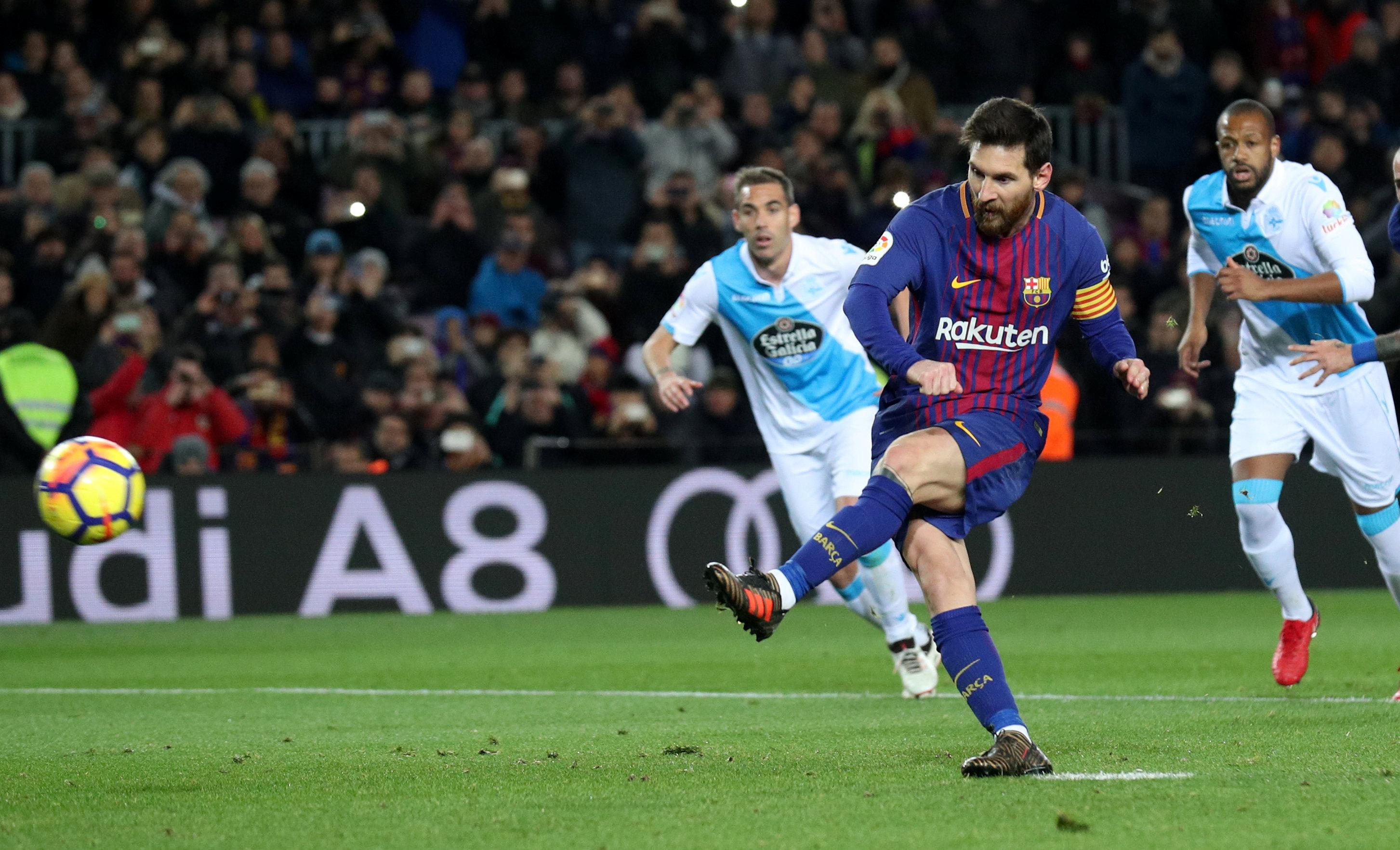 Messi missed his last attempted penalty against Deportivo in December