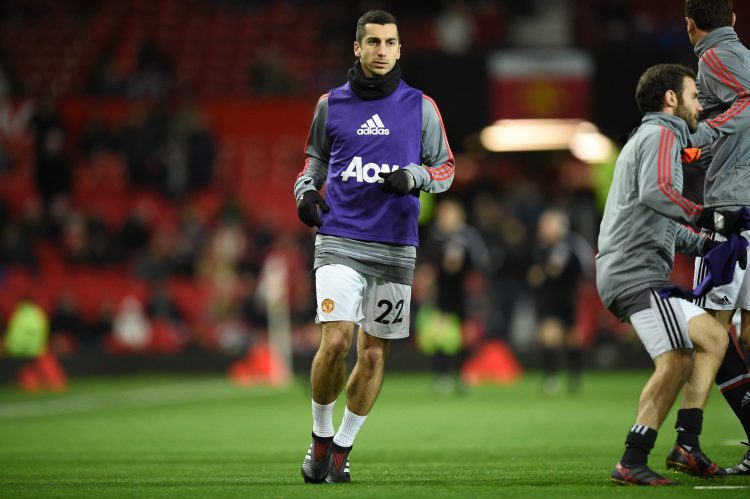 MISSING: Mkhitaryan from the United starting lineup