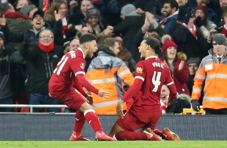 van Dijk scored on his debut for Liverpool, against Everton no less