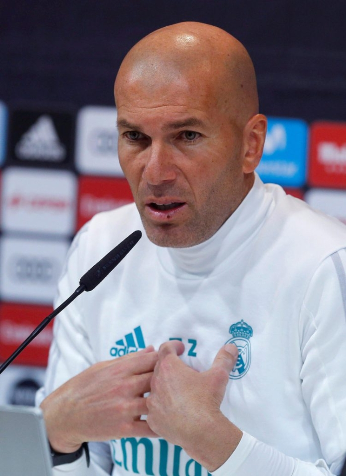 He might seem kind but clearly Zidane has a tough side