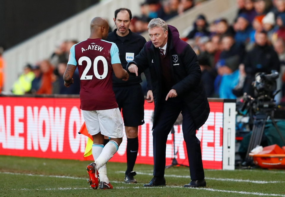 Moyes has preferred Ayew and Carroll up front this season