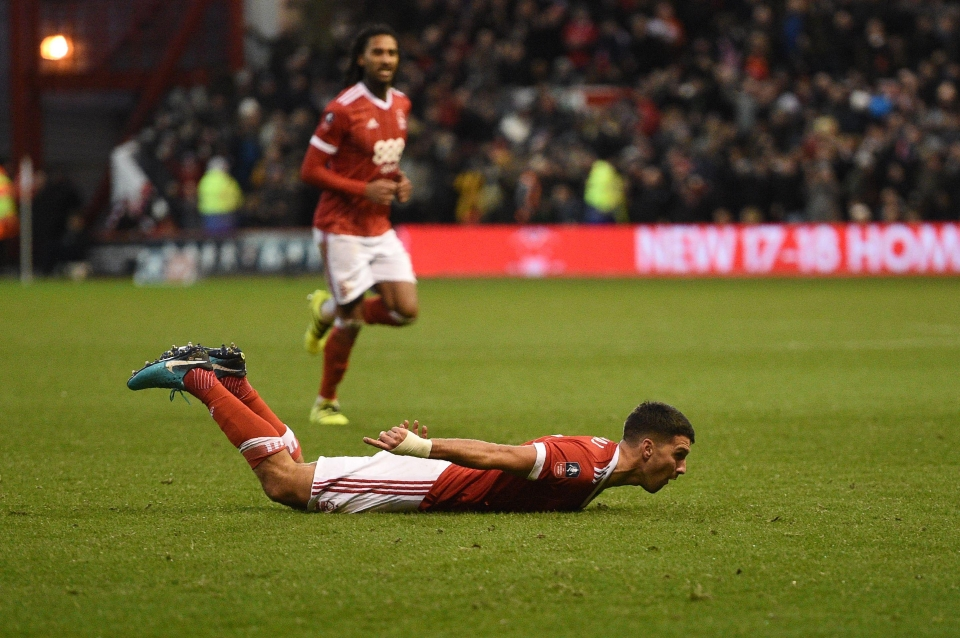 Nottingham Forest's Eric Lichaj was the hero as his side knocked out Arsenal