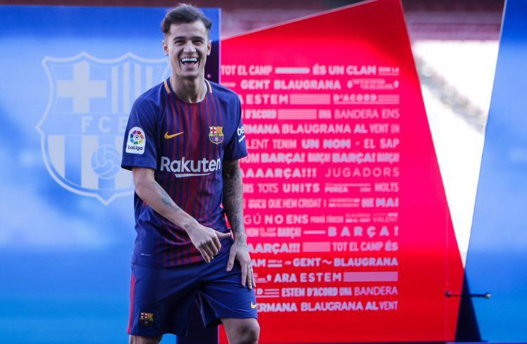 The only time weve actually seen Coutinho in a Barca kit