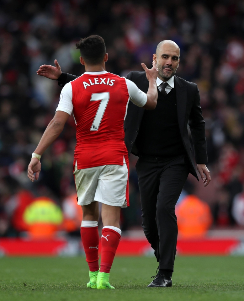 Guardiola has had his eye on Sanchez since the summer