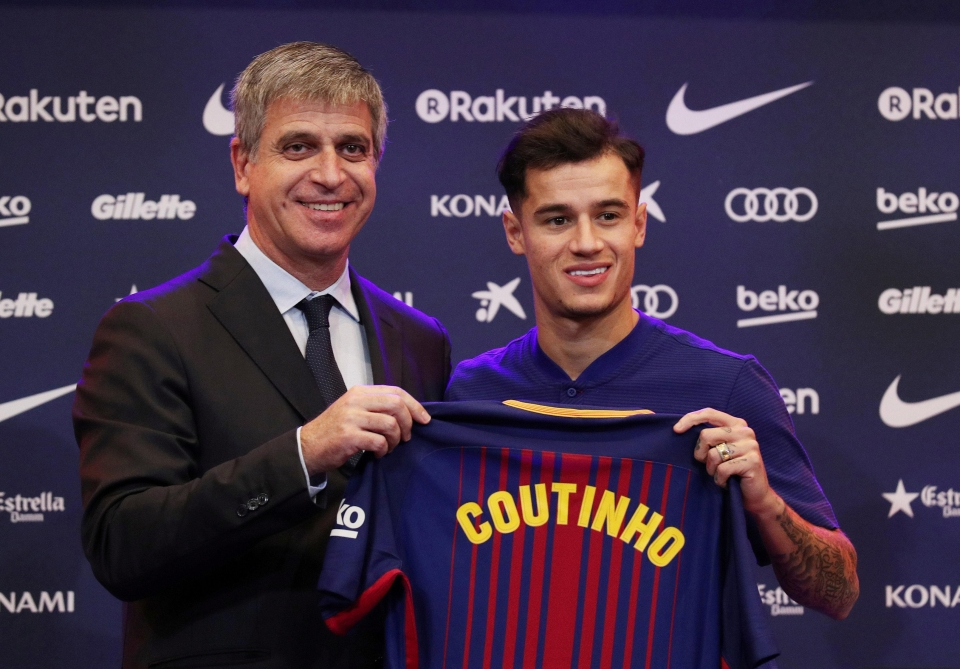 Coutinho sealed his dream move to the Nou Camp