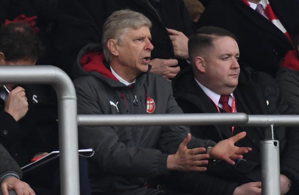 It's not be great viewing for the Gunners boss