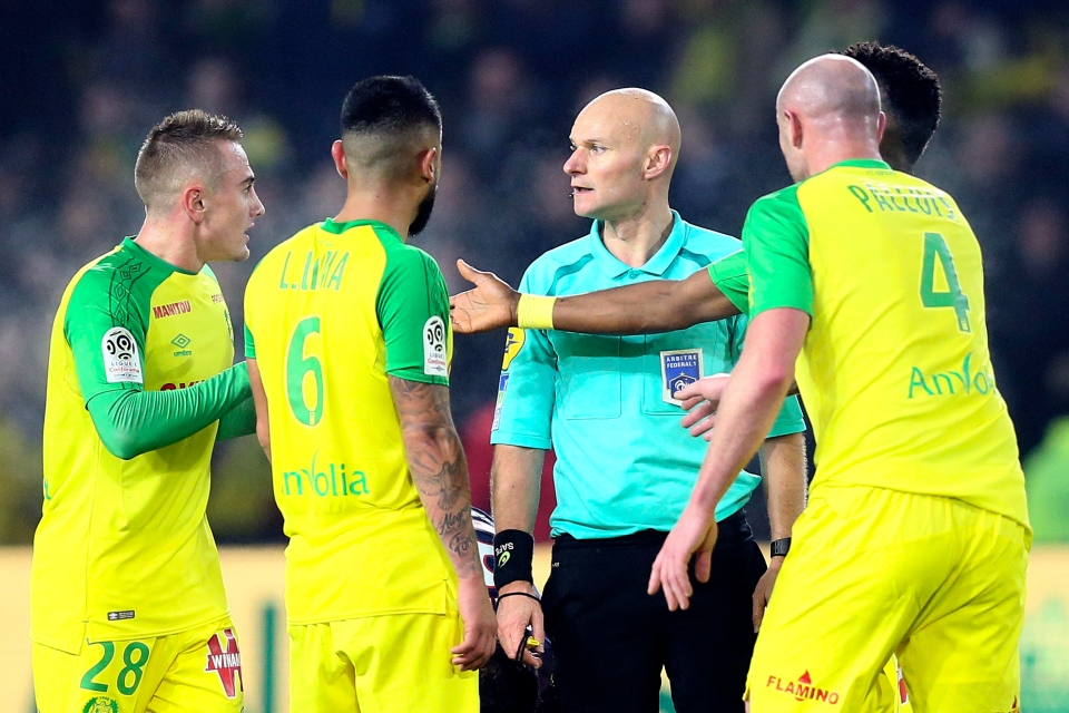 Nantes couldn't believe the decision