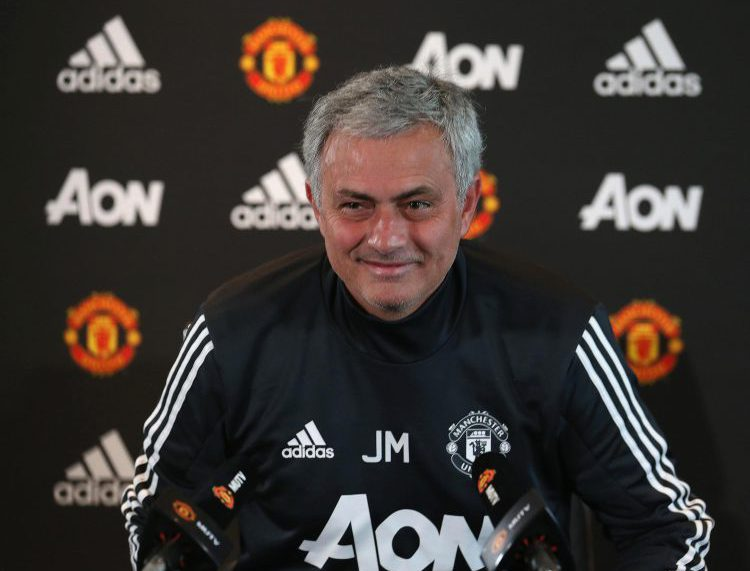 Mourinho trying to cover up his smile