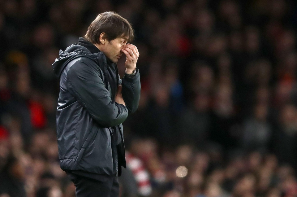 Conte's side are facing a disappointing season