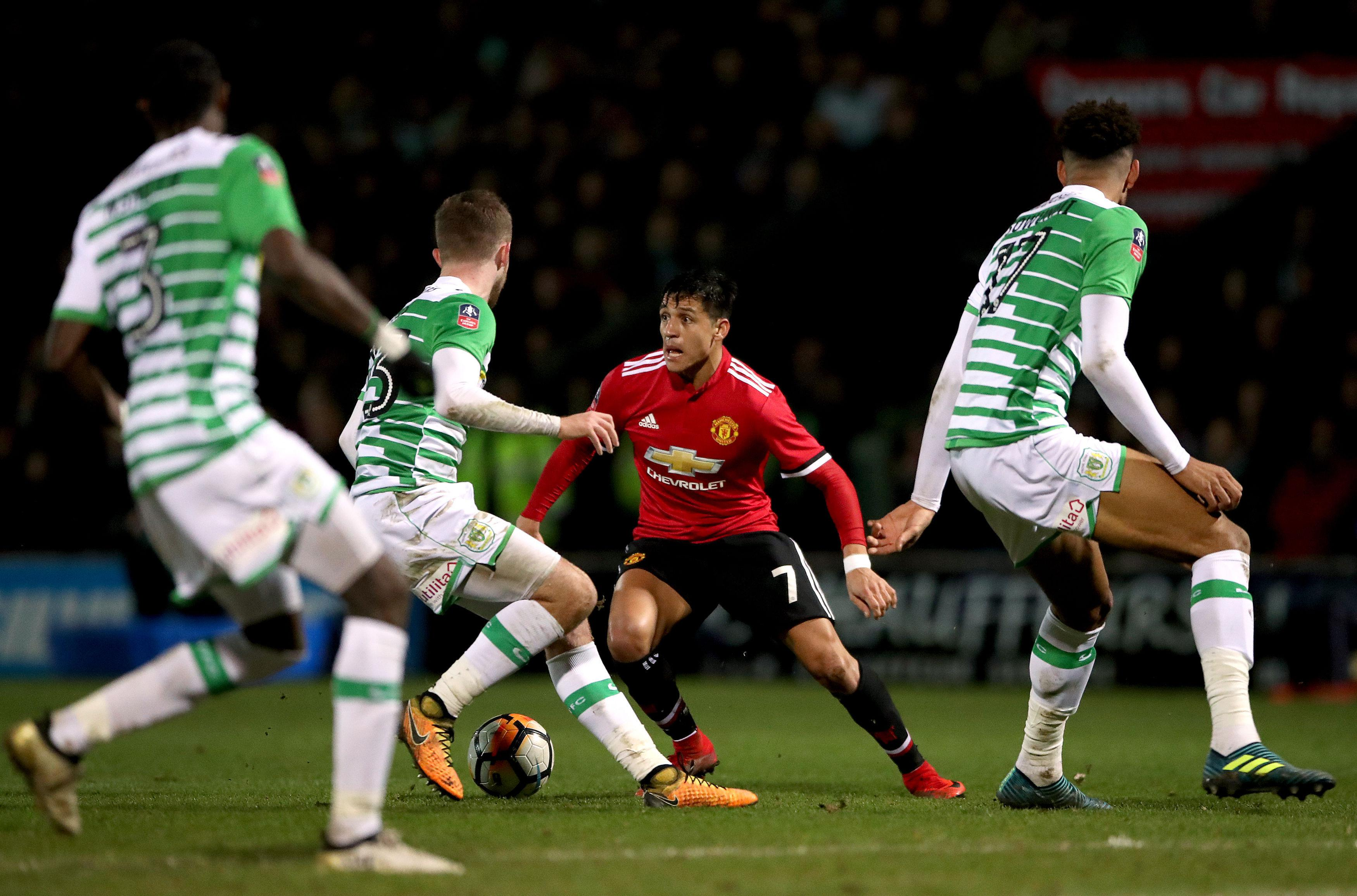 Sanchez in action against Yeovil