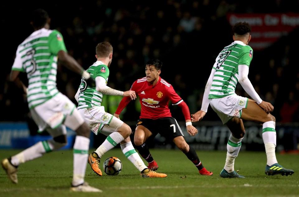 Sanchez in action against Yeovil