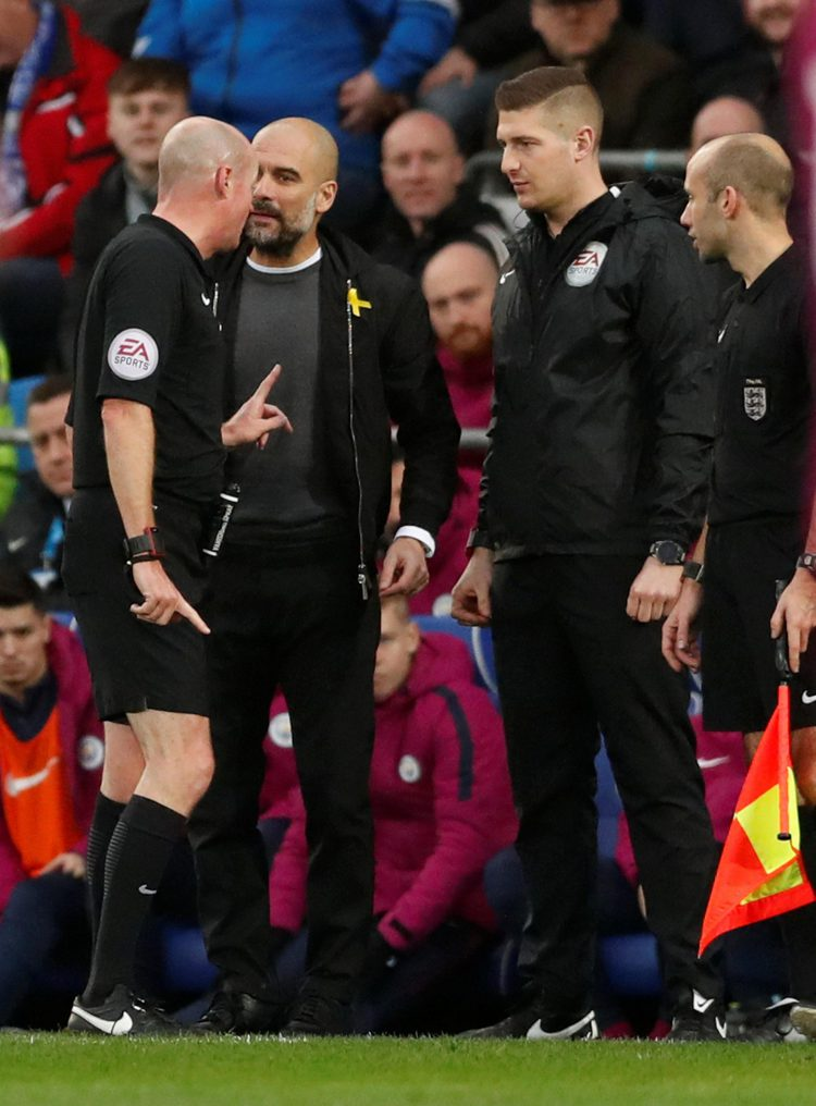 Pep Guardiola was very angry about the call
