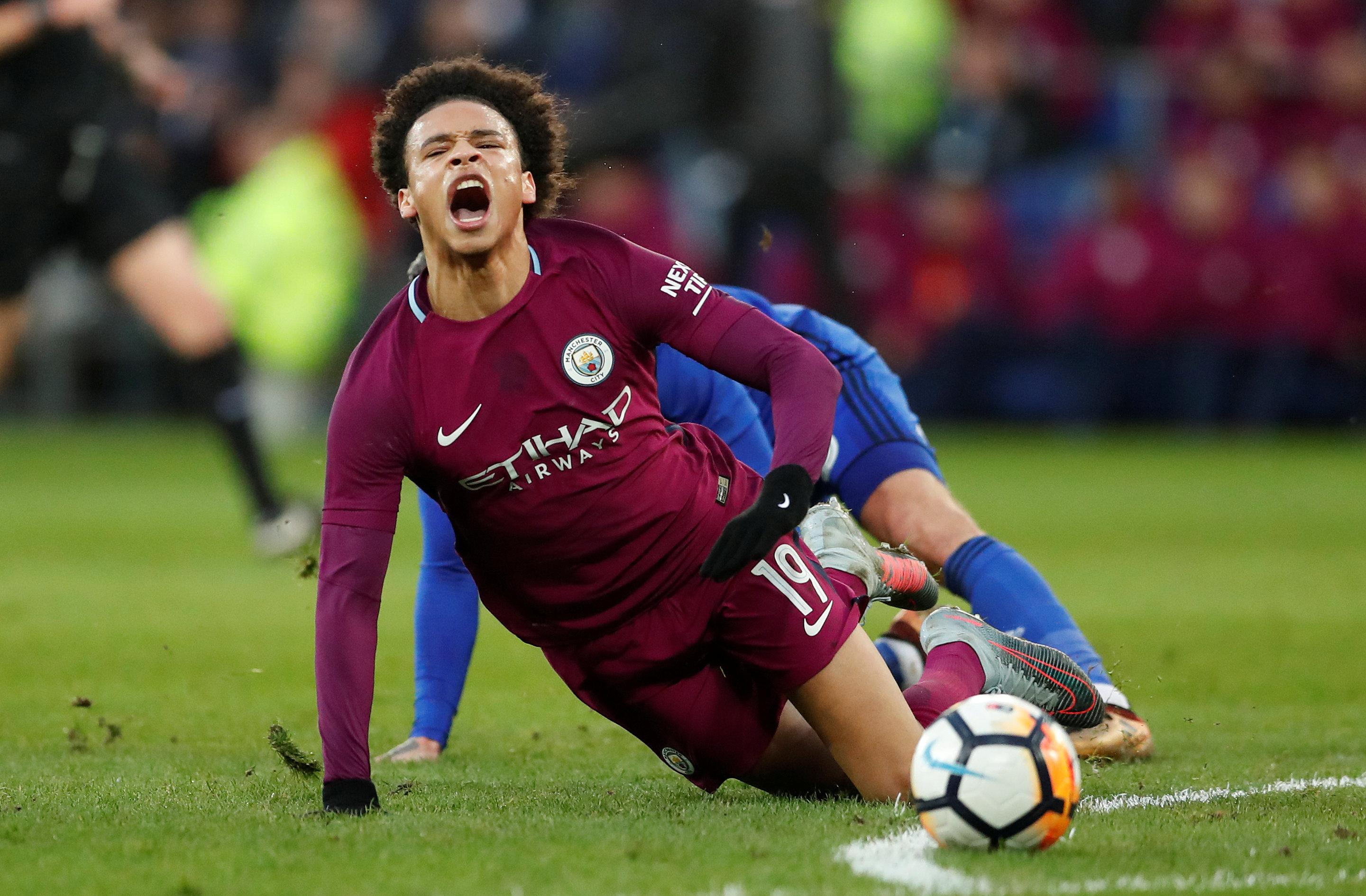 Sane suffered ankle ligament damage