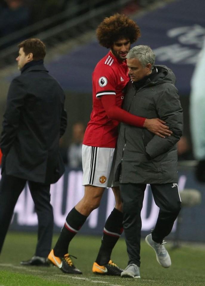 Fellaini 'hugged' Mourinho on his way off