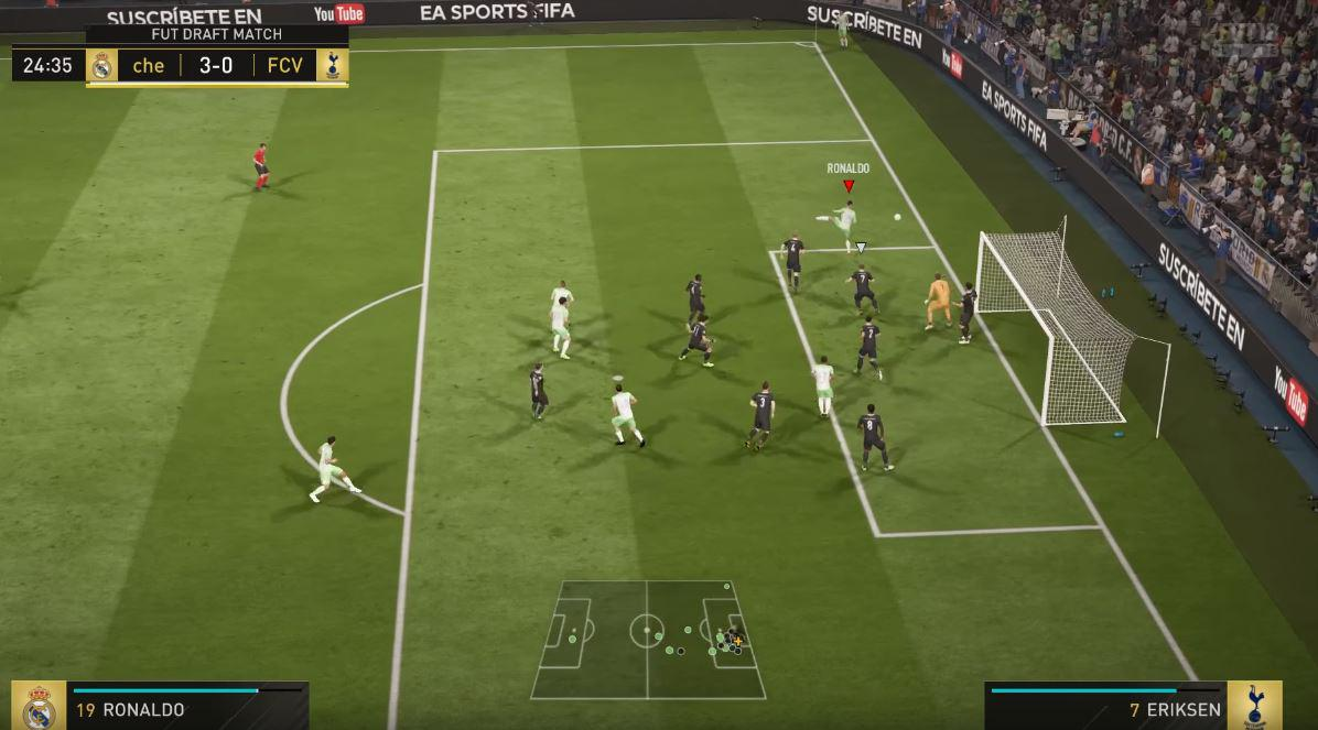 The player nearest the goal can then be freed up to rocket a header in to the net