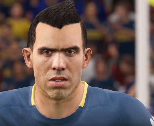 Tevez is one of a number of players added to the game via squad updates
