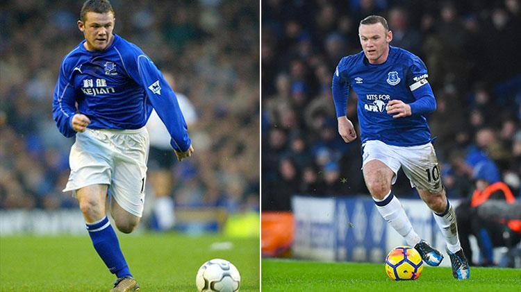 Rooney won the Premier League five times between these pictures