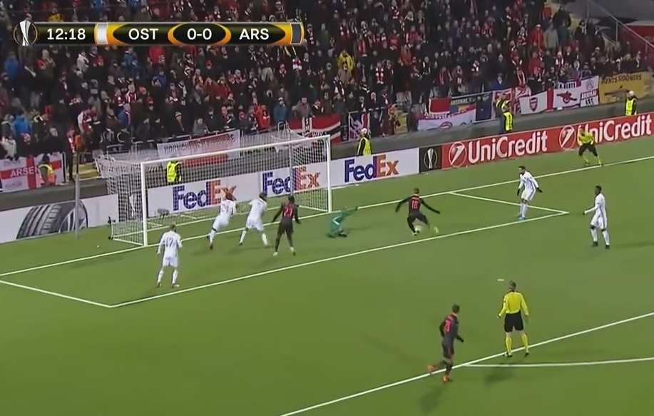 Monreal responds with the reactions of a seasoned goal-poacher