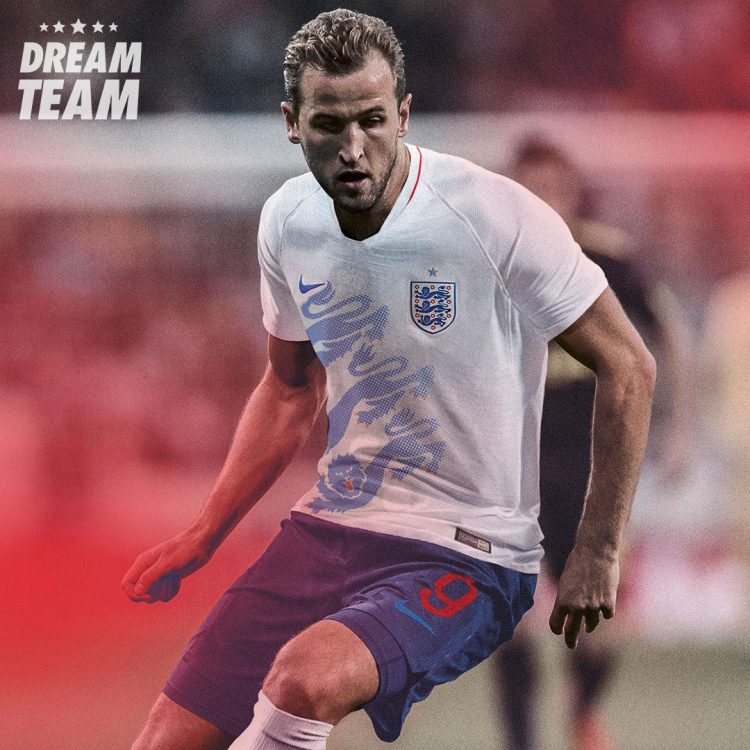 Harry Kane's never looked so patriotic