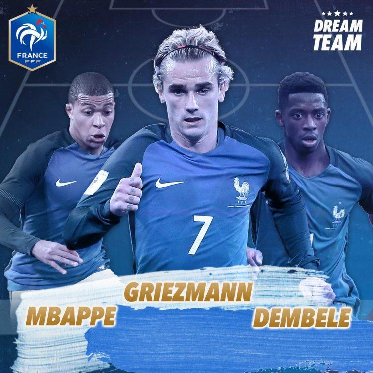 Image result for mbappe dembele griezmann