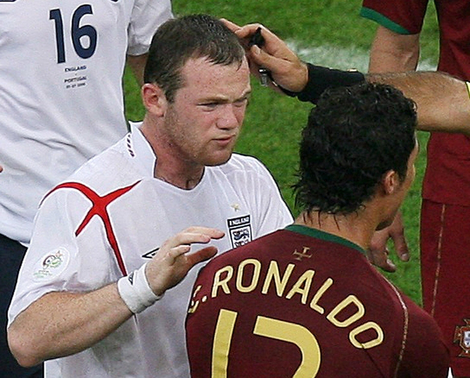 The pair clashed when Ronaldo encourage the ref to send Rooney off