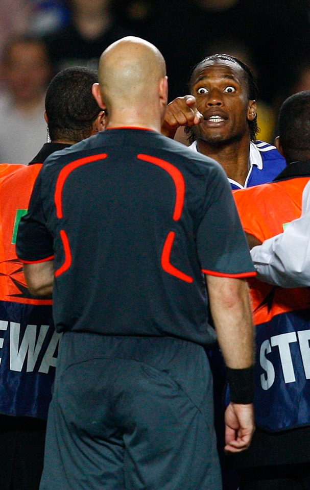 Drogba was far from happy that night
