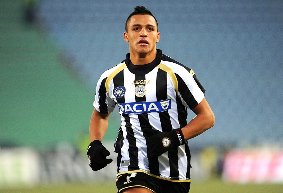 Sanchez was just a skinny winger when he first joined Udinese