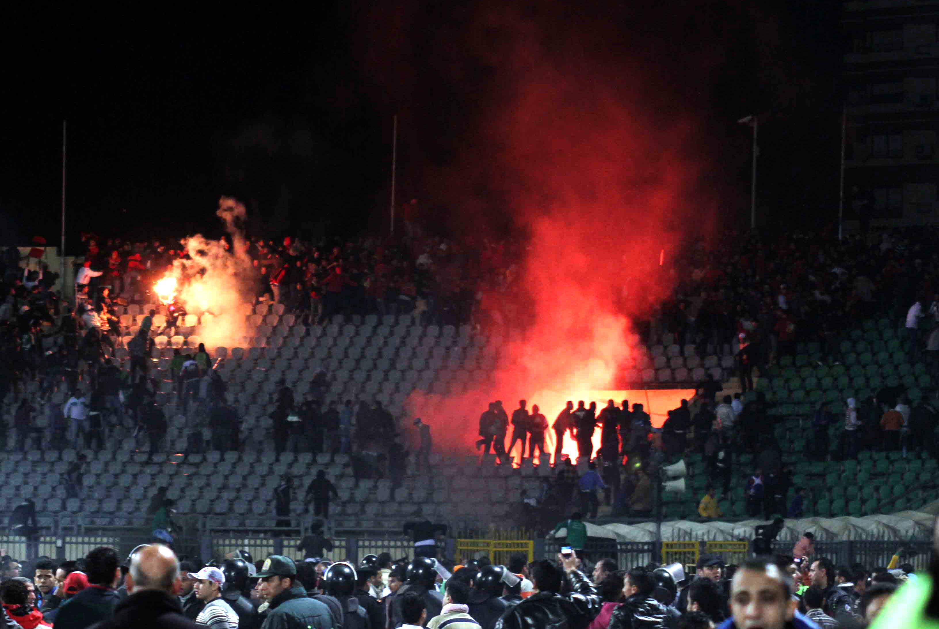 Riots sparked between the two sets of fans