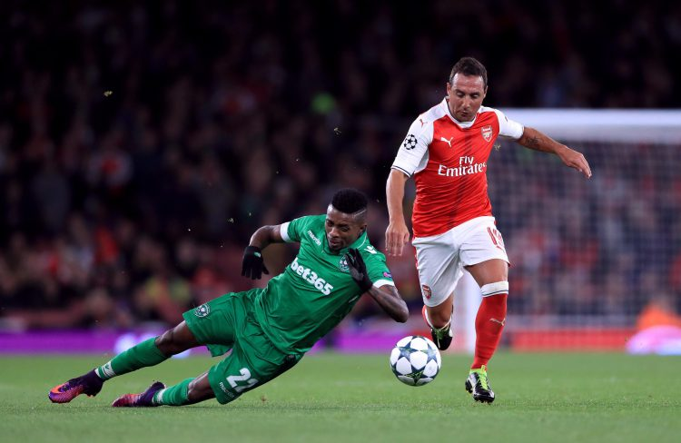 Cazorla must have thought he put the Europa League behind him when he joined Arsenal
