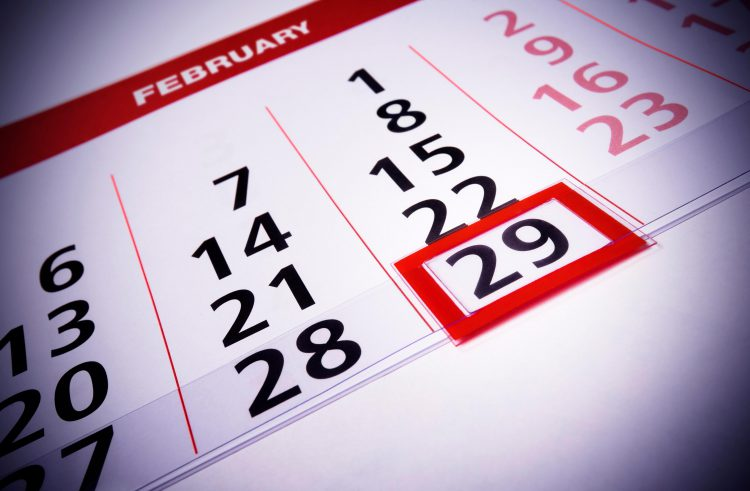Leap years. Just like World Cups, kind of