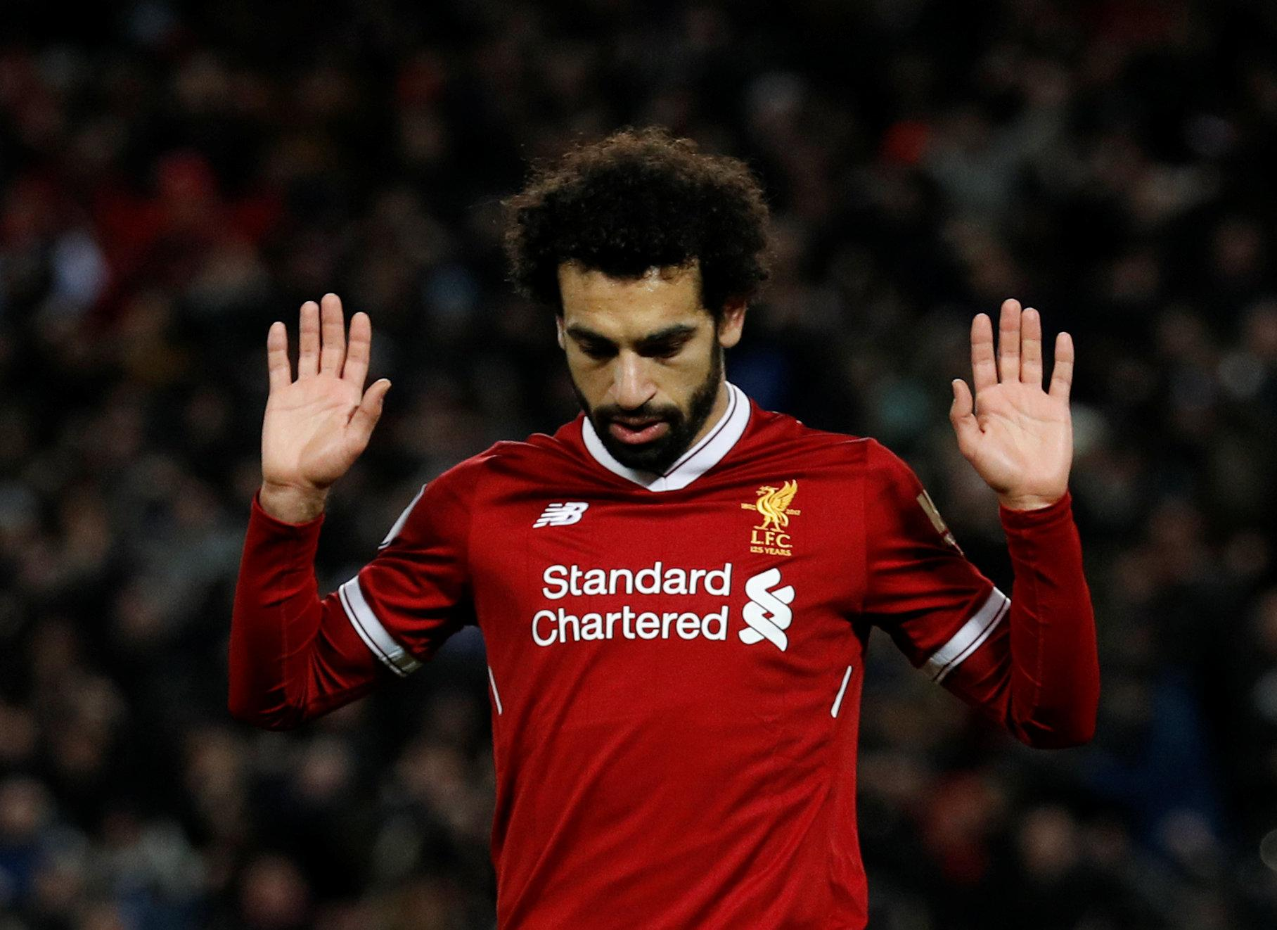 Salah paid his respect after scoring against Chelsea