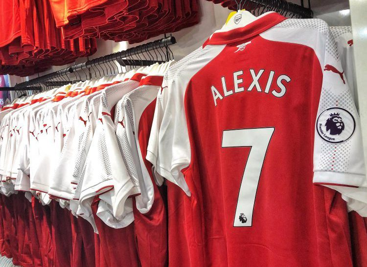 There are reports of the scattered remains of this shirt all over north London