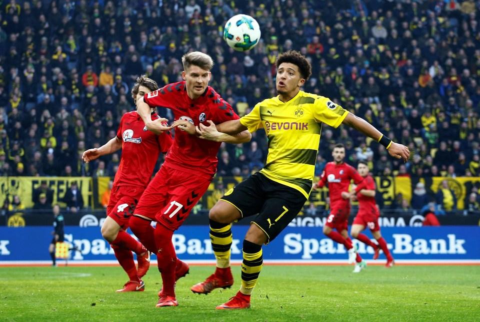 Jadon Sancho has really taken to life at Dortmund