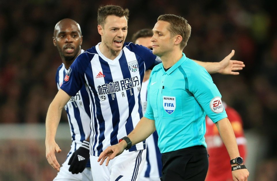 West Brom won but had a goal disallowed at Anfield