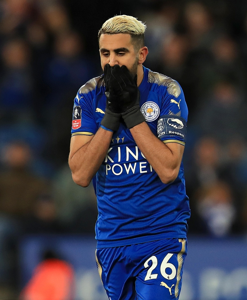 Mahrez is not a happy bunny at the moment