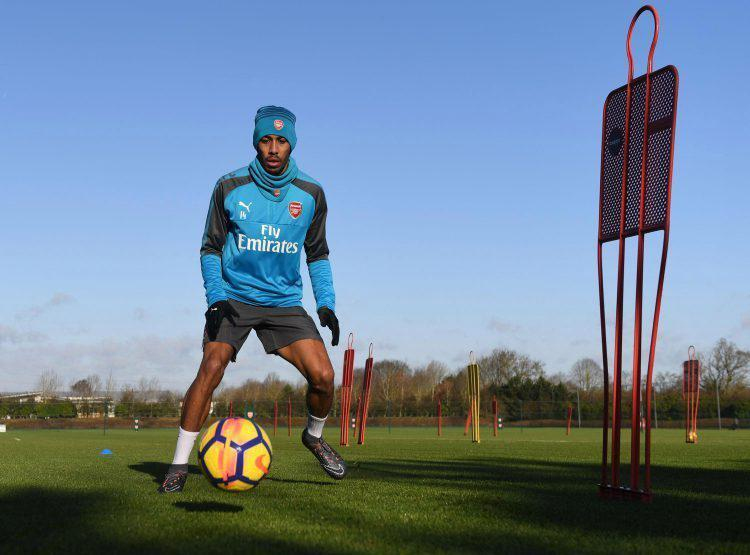 Aubameyang has been training hard ahead of his Arsenal debut