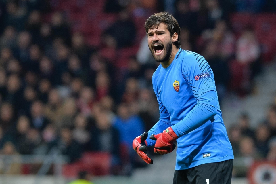 Roma goalkeeper Alisson has been in fine form