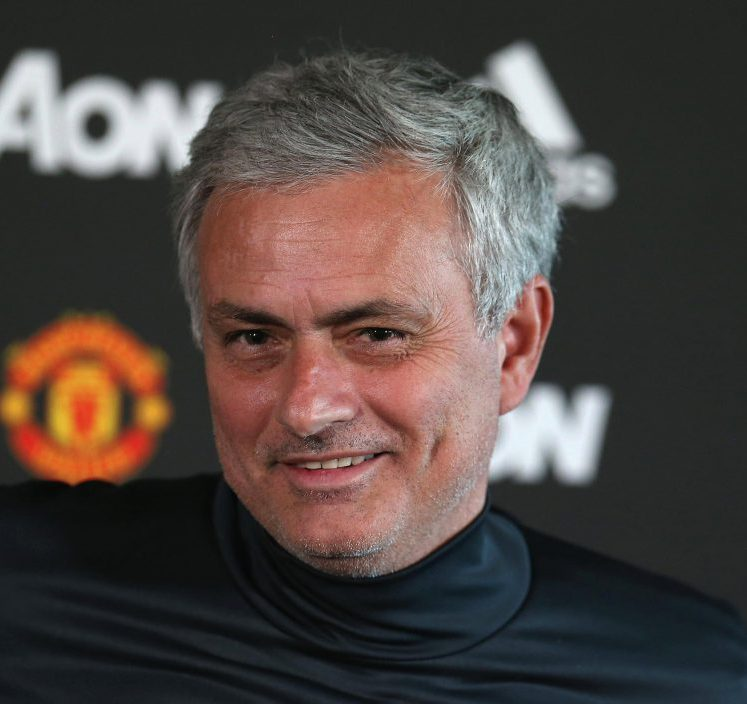 Mourinho is all smiles when he's playing games